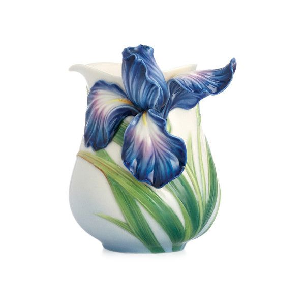 Franz Collection Eloquent Iris Flower Creamer ($106) ❤ liked on Polyvore