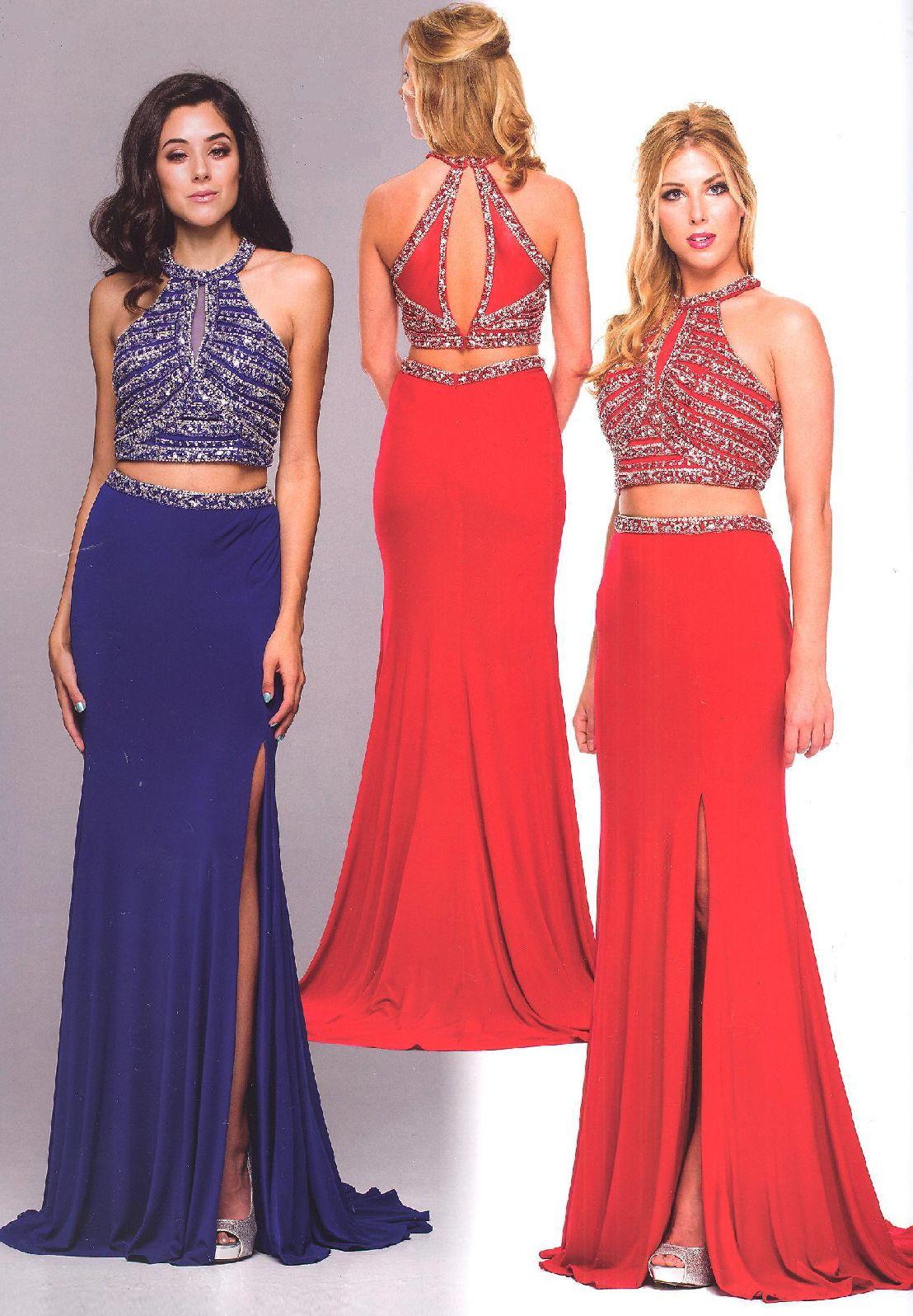Evening dresses prom dressesucbrueucbruejewel neckline two piece
