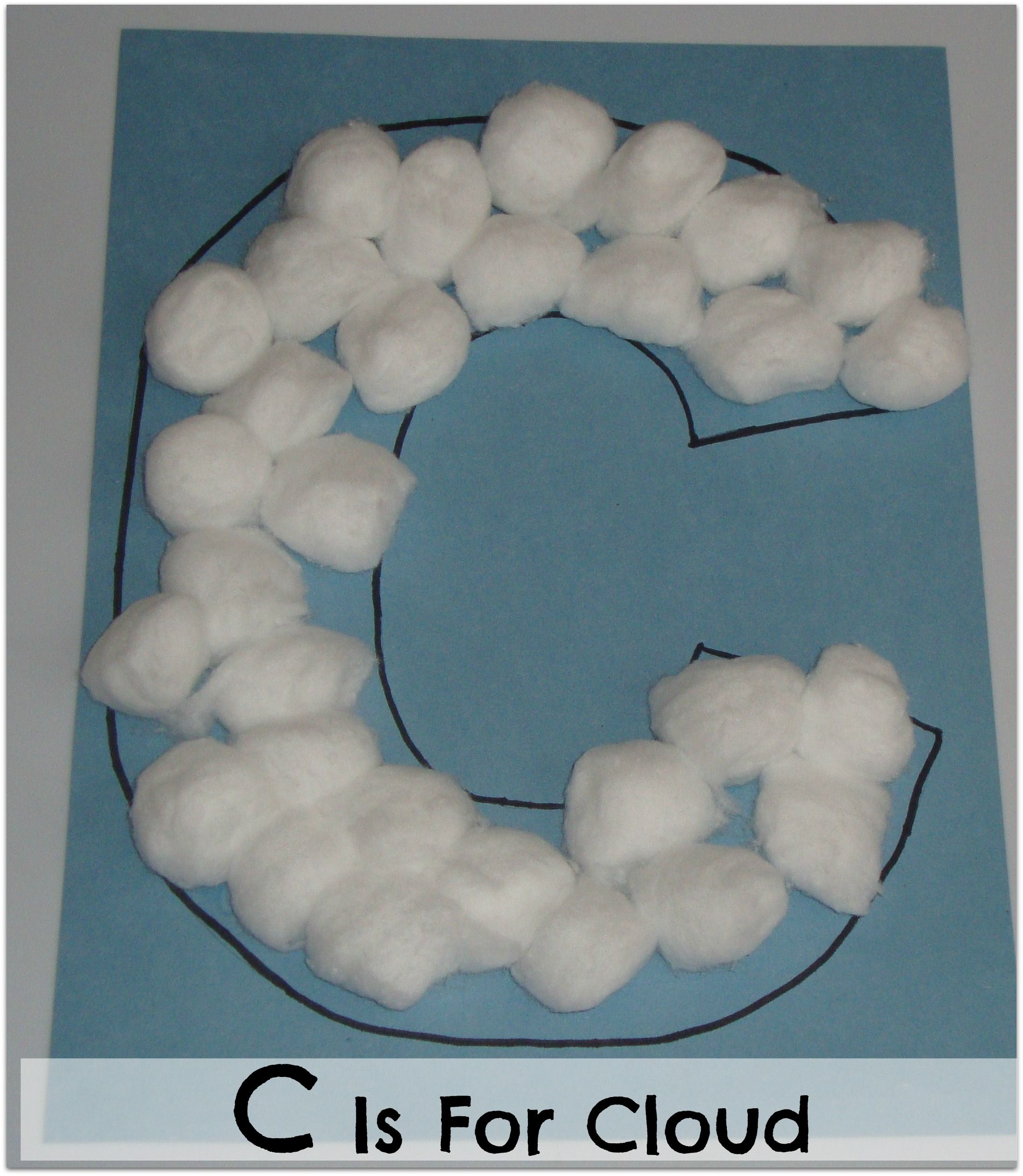 Alphabet Exploration C Is For Cloud With Images