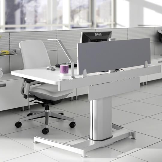 Privacy Screen  New Abso Office  Adjustable height desk