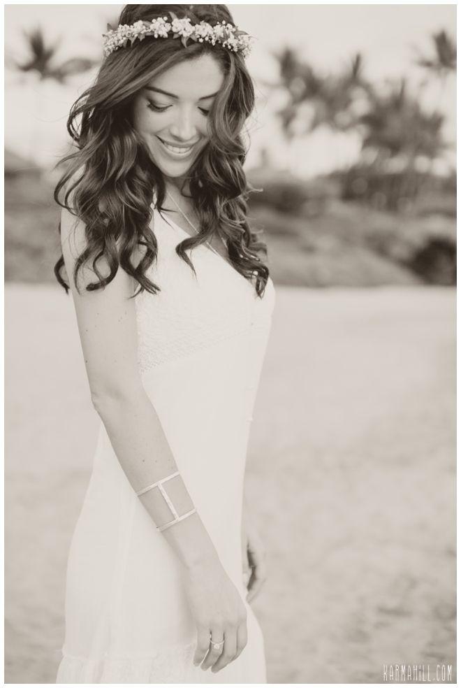 gorgeous bridal hair for a beach wedding in hawaii by simple maui wedding wedding bride