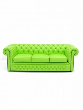 Superbe Lime Green Leather Sofa | ... Hire For Events U0026 Parties: Lime Green  Chesterfield 3 Seater Sofa