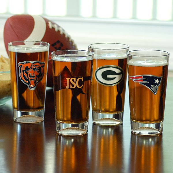 a9714313387 Our Personalized Engraved NFL Football Pint Glasses are sure to be a hit  with sport s fans everywhere. Stock your home bar with personalized pint  glasses ...