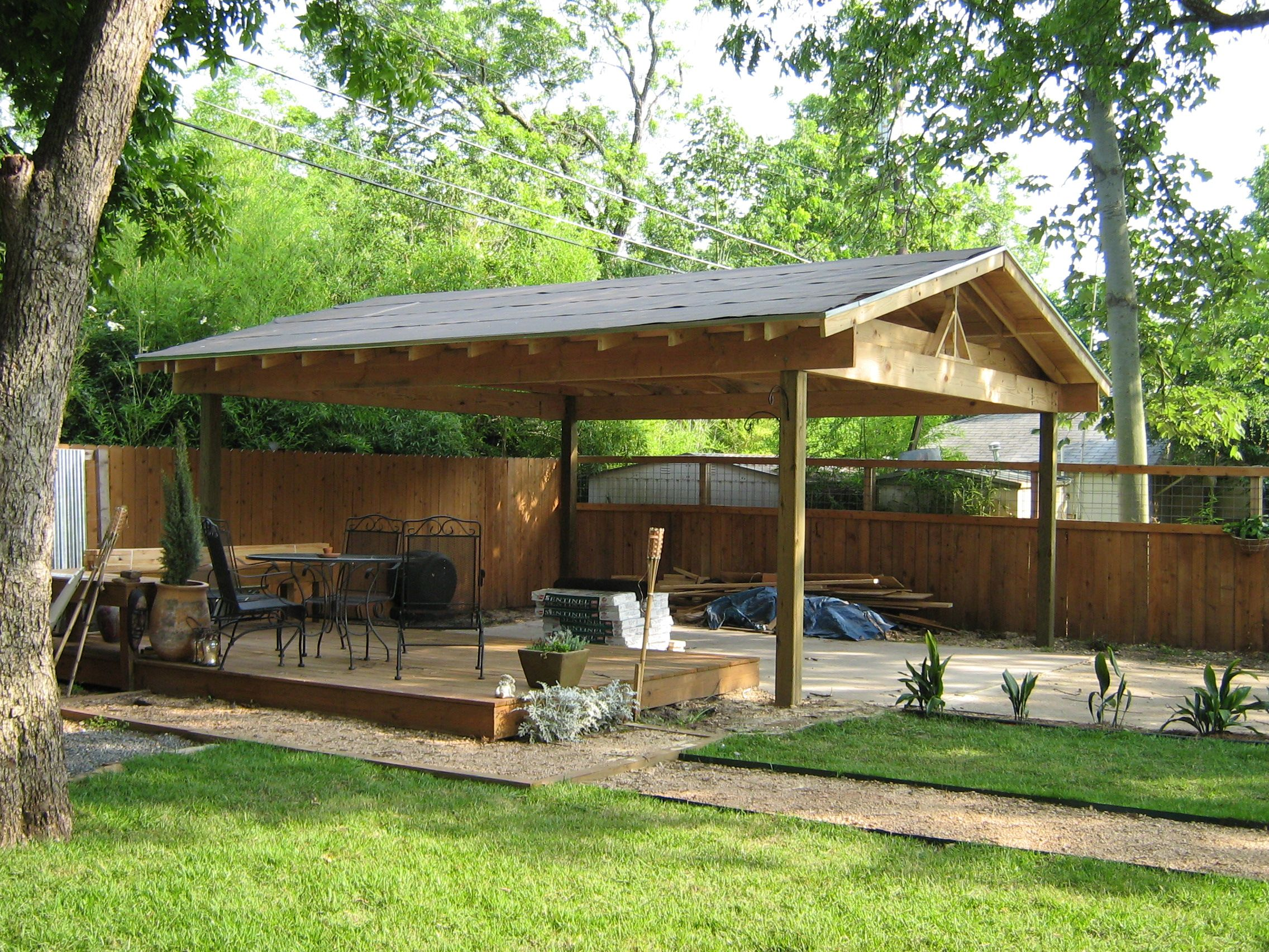 Free standing carport plans products wood carports 54449 for Open carport plans