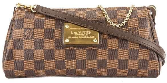 9e8d52cf88fb Louis Vuitton Damier Ebene Canvas Eva Bag (Pre Owned)