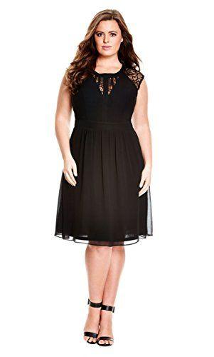 bc82f4f1d4 Dark Romance Plus Size Fit   Flare Dress in Black - Size 18   M ...
