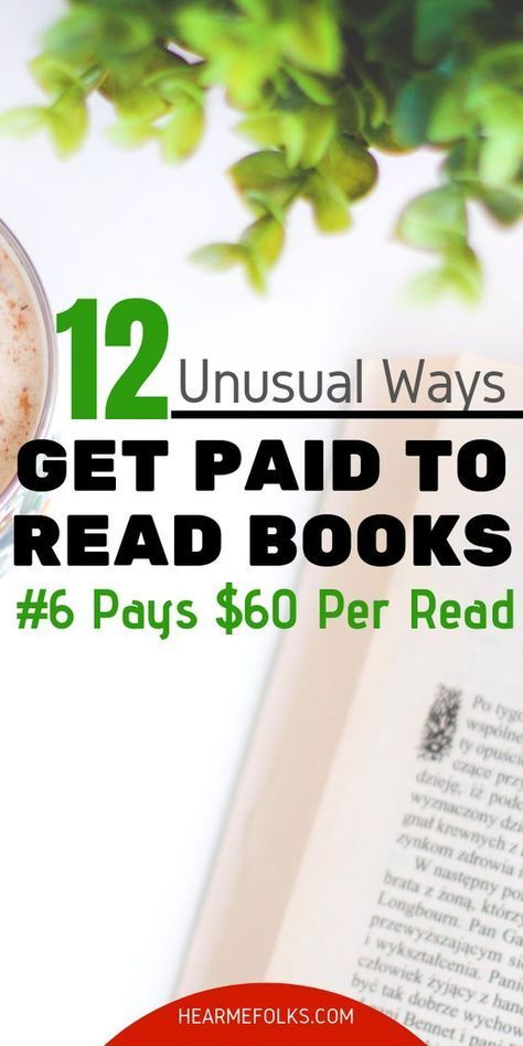Get Paid to Read Books - 12 Unusual Ways for Book Worms   How to make money, Earn money from home, M