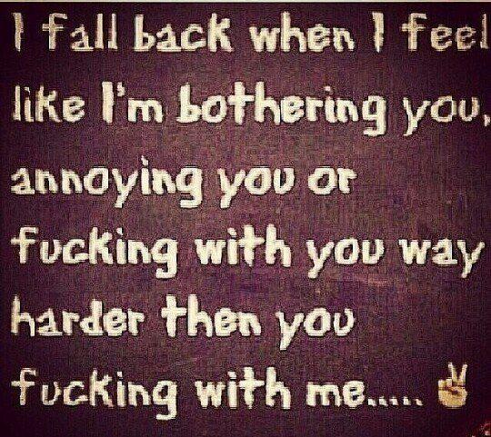 I fall back when...