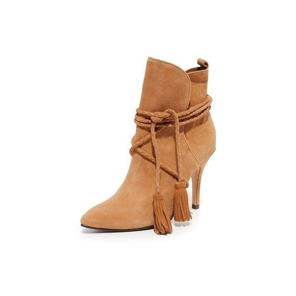 Schutz Fadhila Booties (188.925 CLP) ❤ liked on Polyvore featuring shoes, boots, ankle booties, brownie, cuffed booties, schutz booties, cuffed boots, leather boots and pointy toe booties