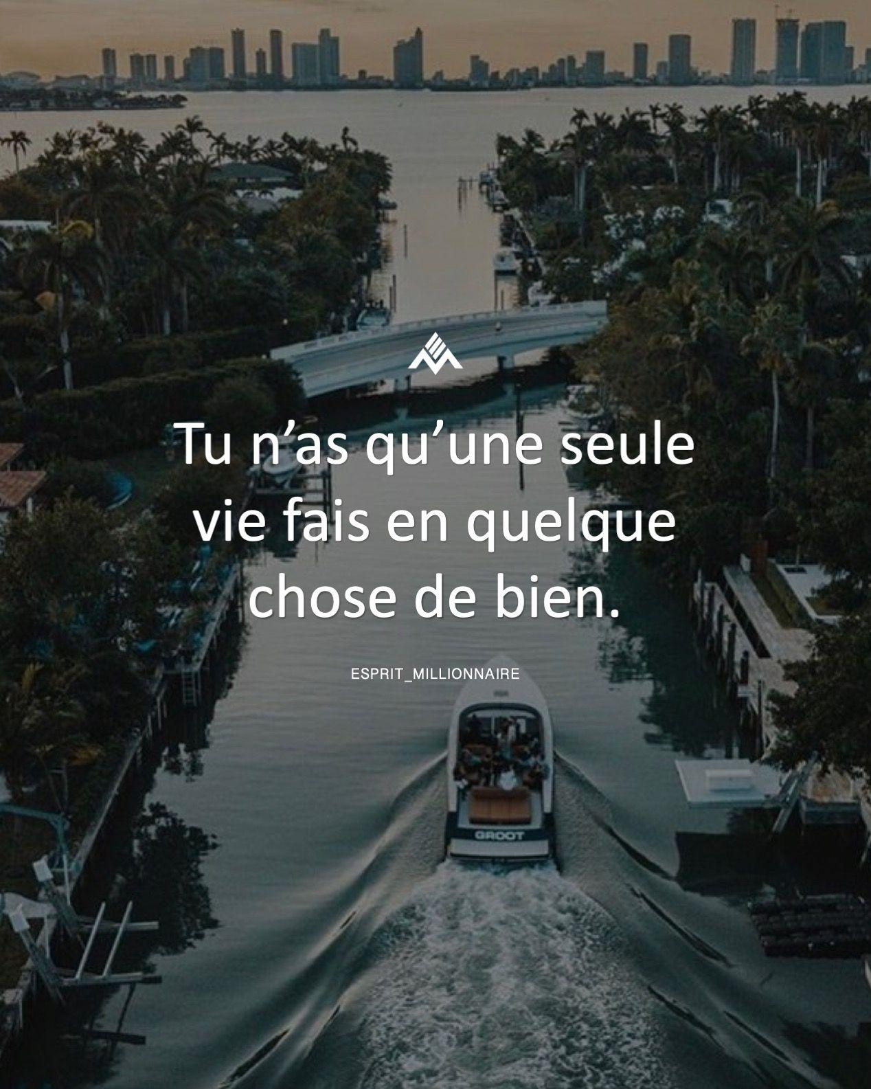 Citation On A Qu Une Vie : citation, Qu'une, Seule, Quelque, Chose, Bien., #espritmillionnaire, #citation, #succes, #develop…, Citations, Réussite,, Citation, Motivation