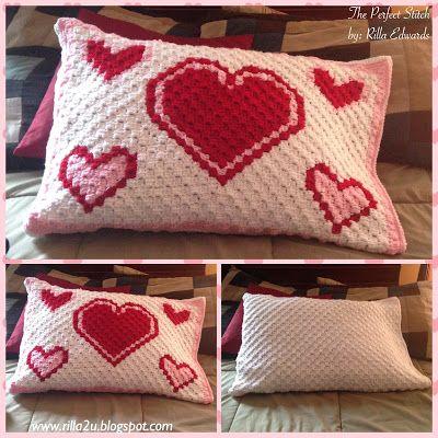Valentine Pillow Cover/Sham C2C Graph....