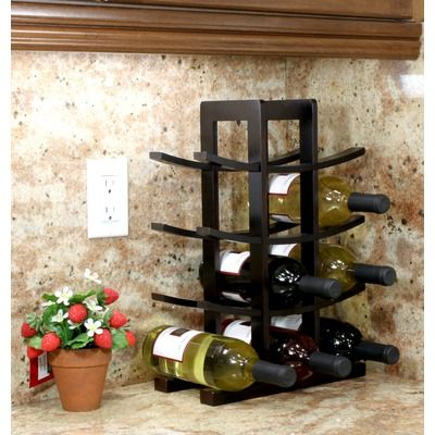 16 48 Oceanstar Design 12 Bottle Bamboo Wine Rack Notes Comes In Natural Wood And Black 24 Revi Table Top Wine Rack Countertop Wine Rack Wooden Wine Rack