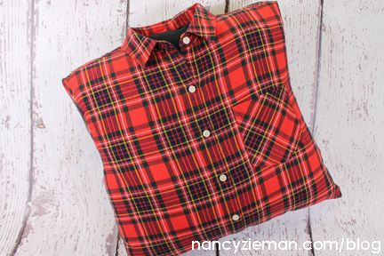 How To Sew A Lumberjack Pillow From A Flannel Shirt