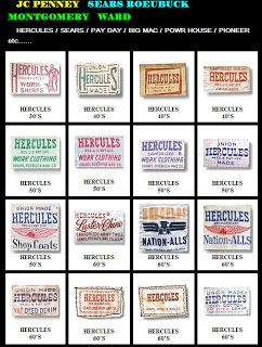 Dating sears labels