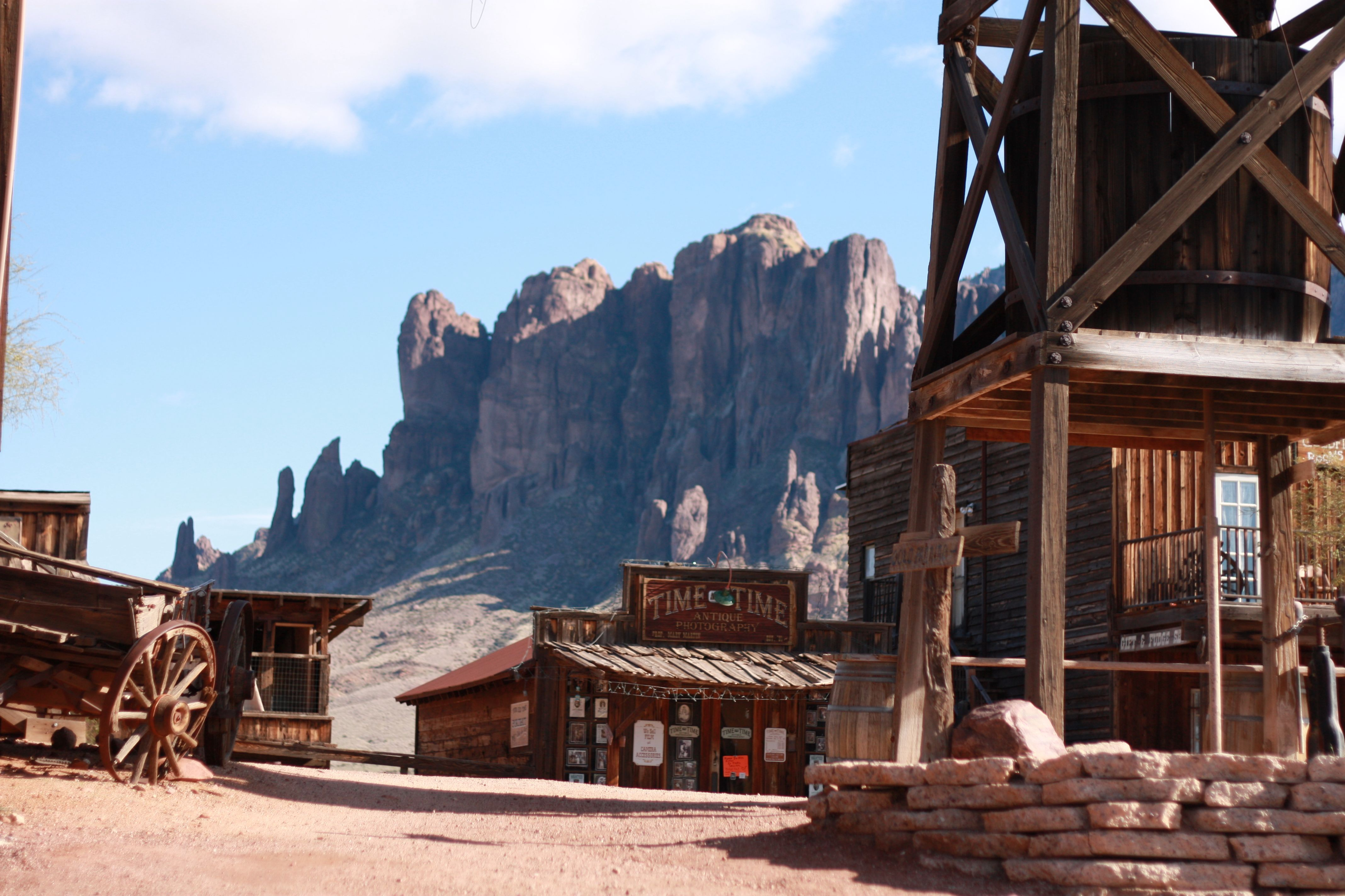 Desert church in Castle Dome Mines Museum and Ghost Town ... |Arizona Mining Towns