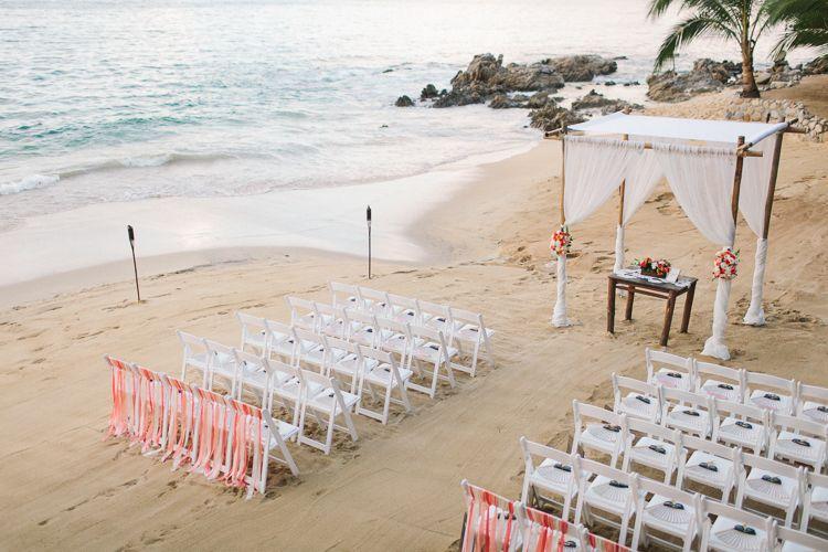 Las Caletas Wedding Mike Sarah Wedding Ceremony Setup Wedding Alters Wedding