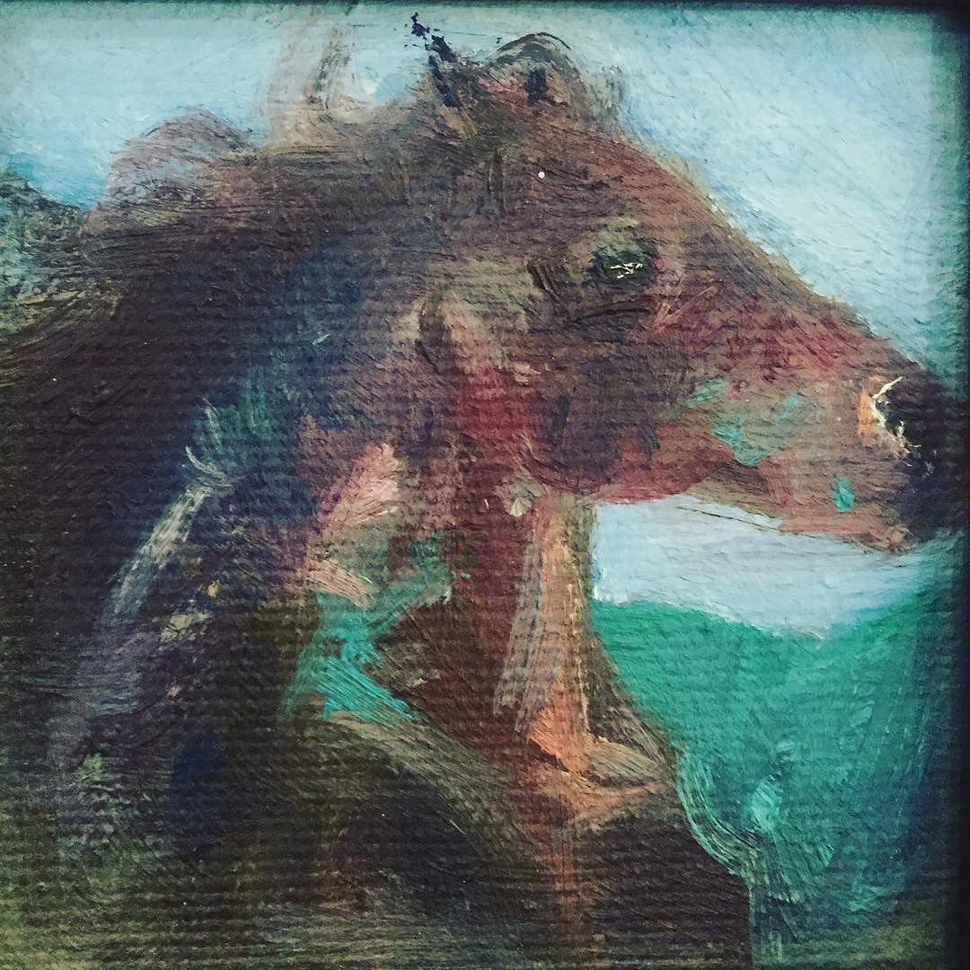 #horse // long lost friend form 2010 // the smallest painting I have ever made // 10cm x 10cm // #art #painting #oil