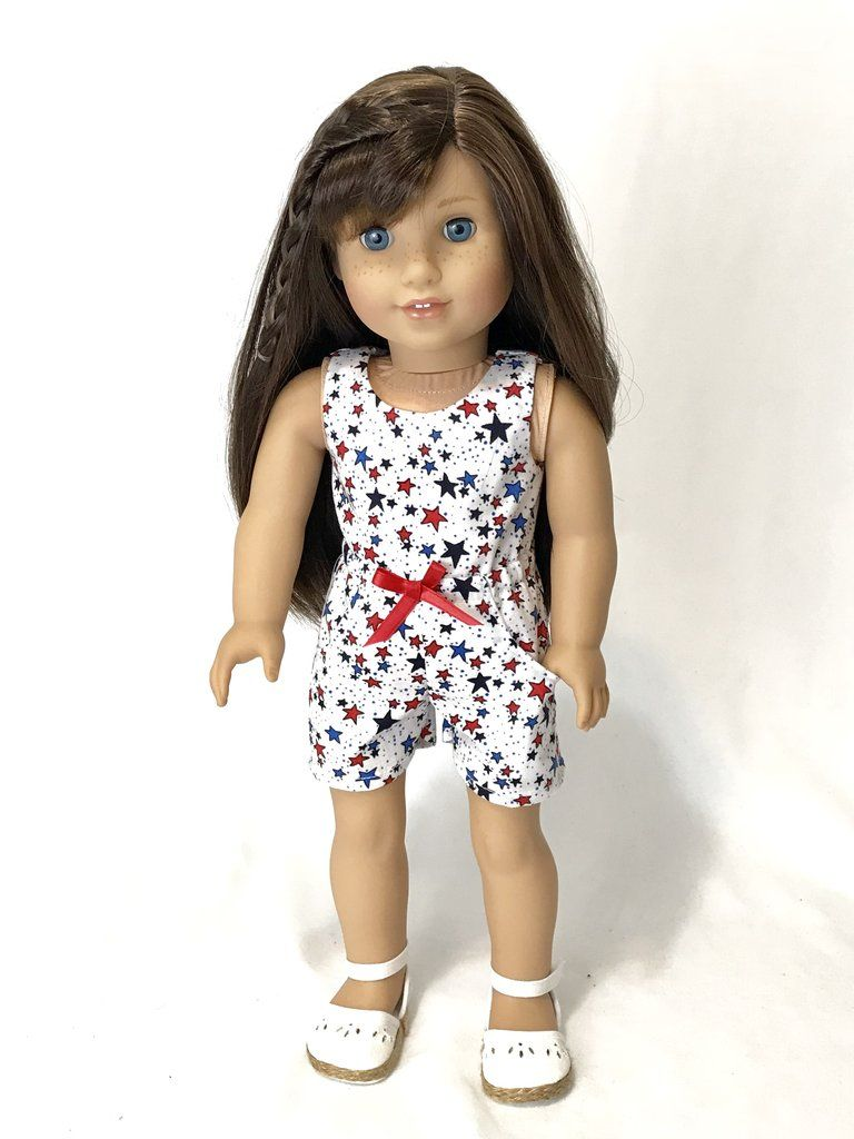 4th July Striped Summer Dress American Made Doll Clothes For 18 Inch Girl Dolls