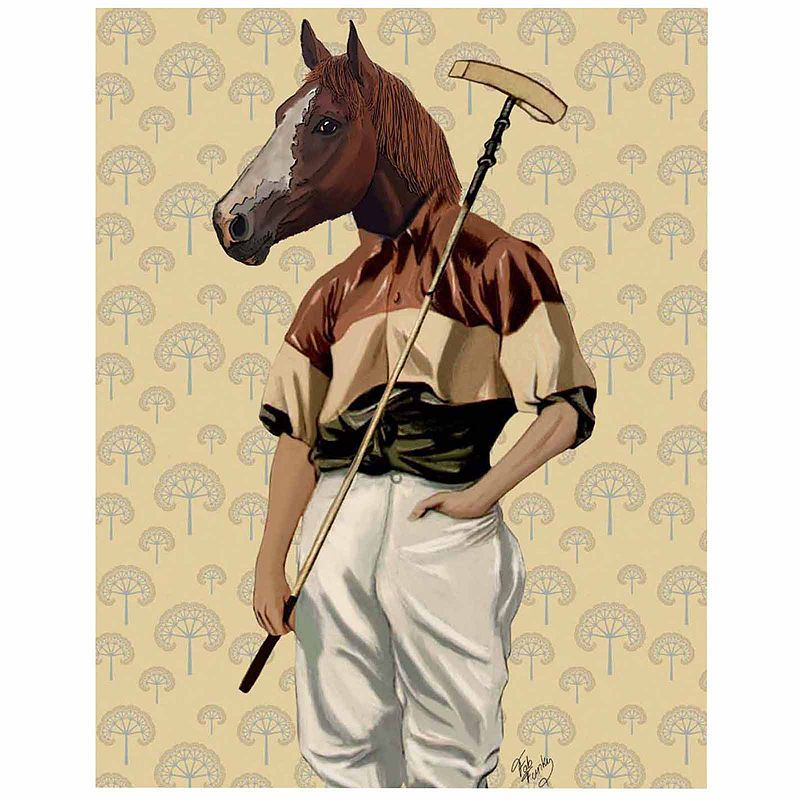 Polo Horse Portrait Canvas Wall Art | Horse portrait and Products