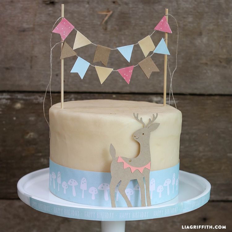 Woodland DIY Cake Bunting Topper Buntings Cake and Tutorials