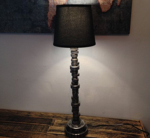 Hot Rod Lamp, Made With Recycled Engine Parts, Hot Rod