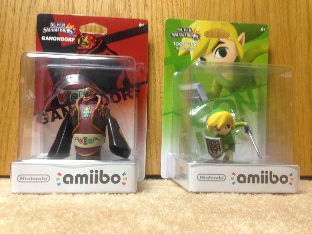 Nintendo Wii U Amiibo Toon Link And Bonus Custom Ganondorf