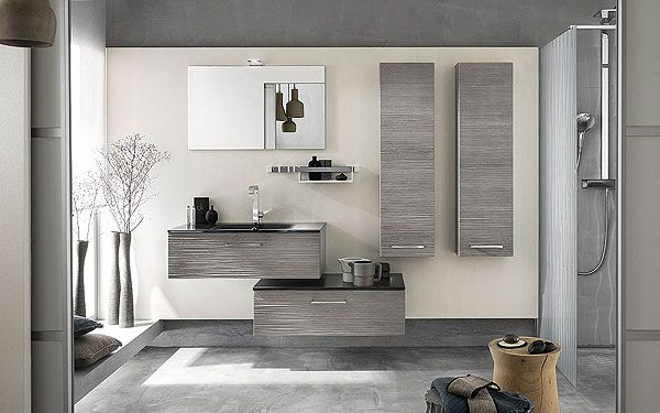 meuble salle de bain gris bois 2016 - Meuble Salle De Bain Gris Clair