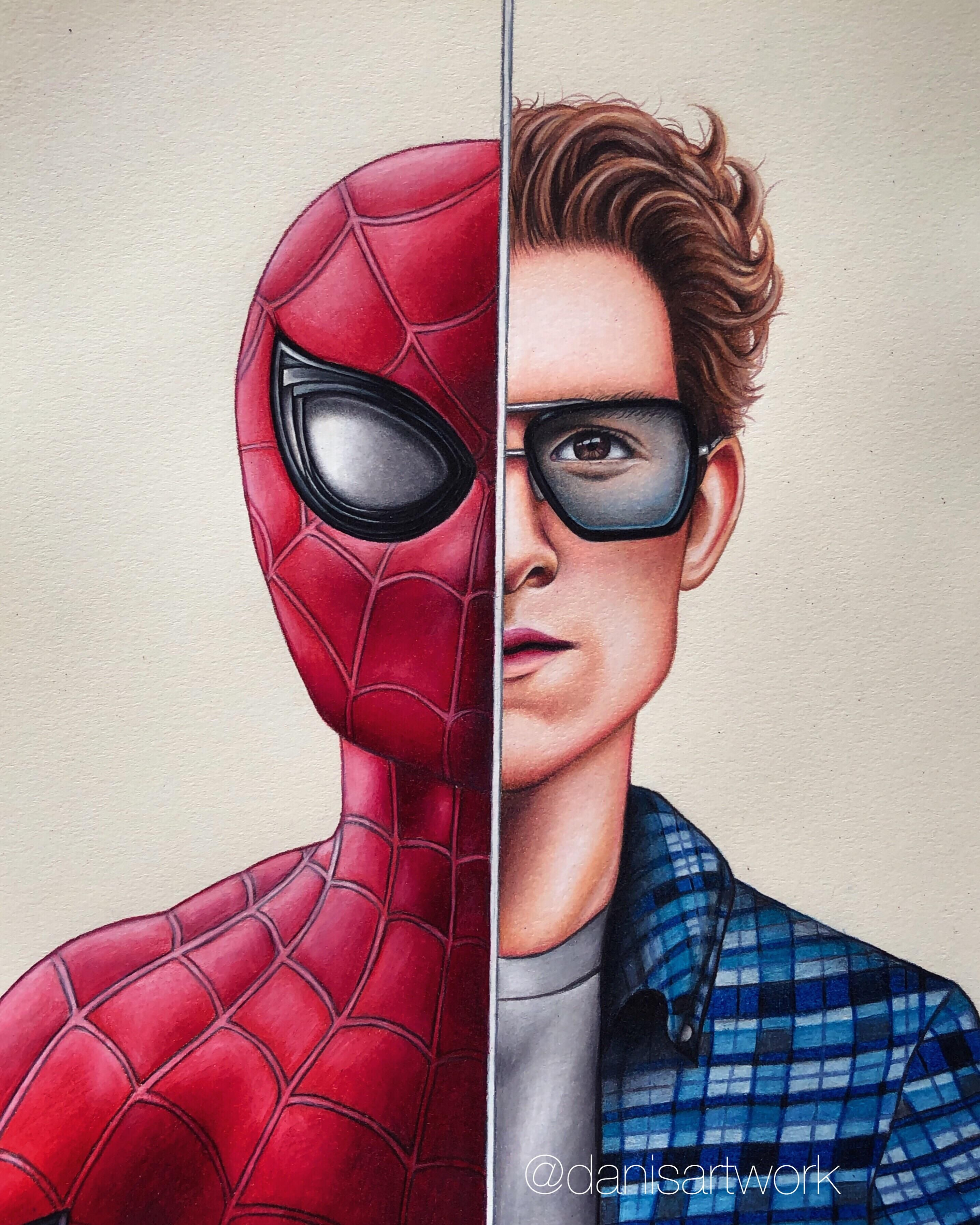I Drew Spider Man Peter Parker With The Edith Glasses Marvel Art Drawings Spiderman Drawing Marvel Drawings