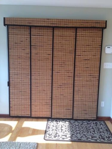 "Bamboo Sliding Panel Track Blinds: Our Customer Said: ""I Am So Glad I Ordered The Panel Track"