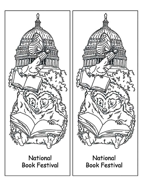 National Book Festival Bookmarks Coloring Pages Best Place To Color