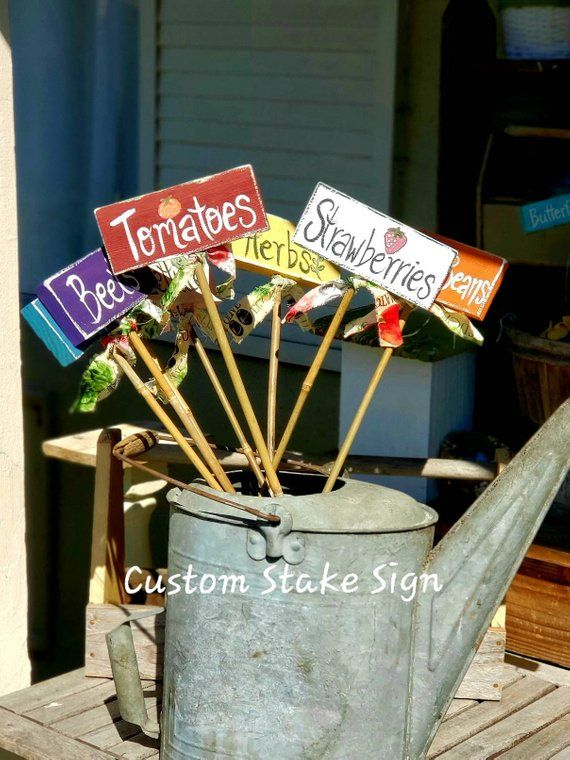 Vegetable Stakes Garden Signs