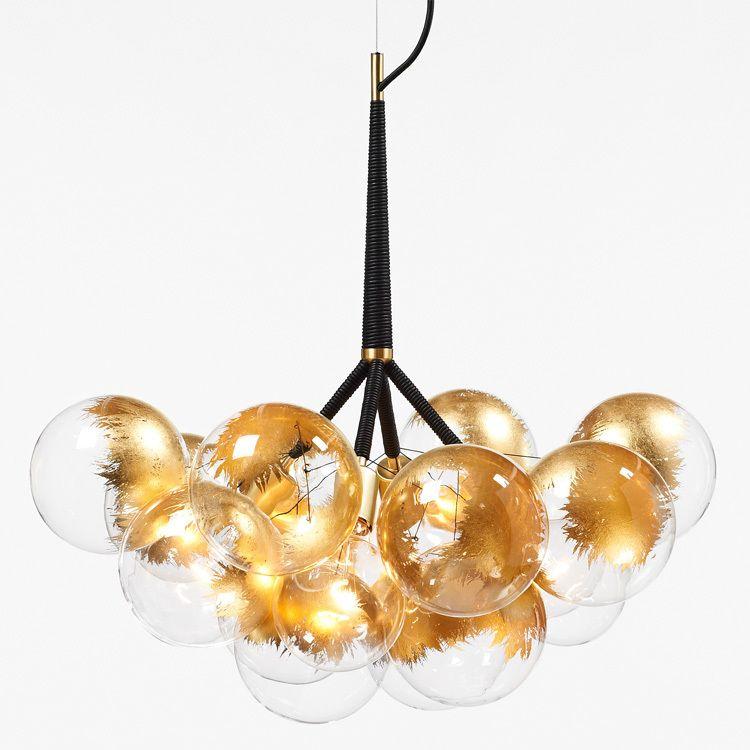 Pelle 24k gold bubble chandelier upgrade