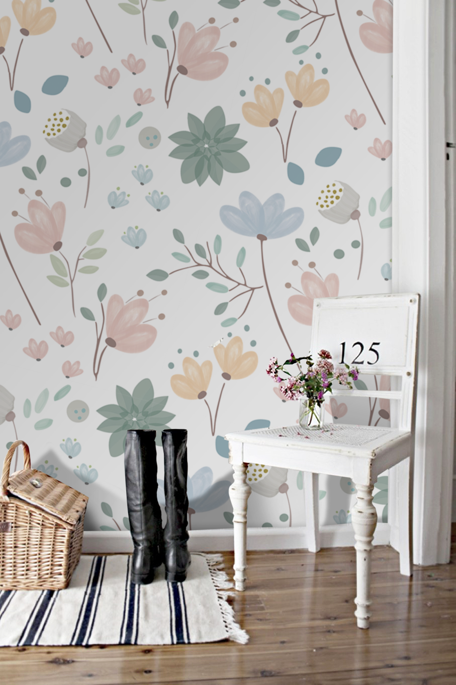 Pin On Floral Murals