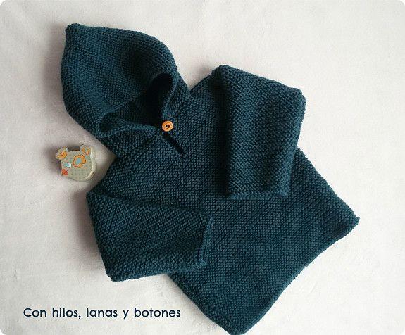 b2b2f6fa4 Jersey con capucha para bebé paso a paso (Con hilos
