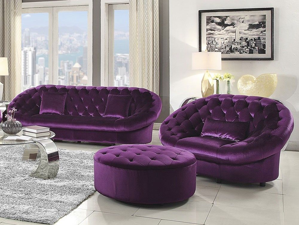 Awesome Purple Couch Set Epic Purple Couch Set 29 Sofas And