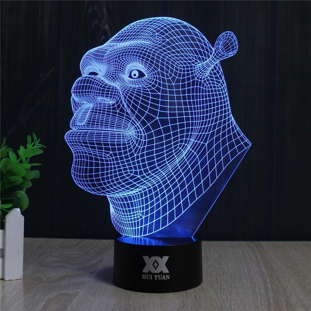 Shrek 3d Led Lamp 3d Led Lamp Lamp Led Lamp