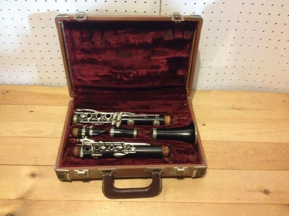 Vintage Clarinet Ebo Tone By Sml Paris France 0228 Italy With Case Clarinet Vintage Paris France