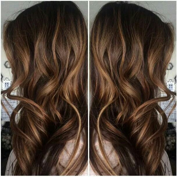 Image result for Soft Caramel Highlights on Brown Hair: