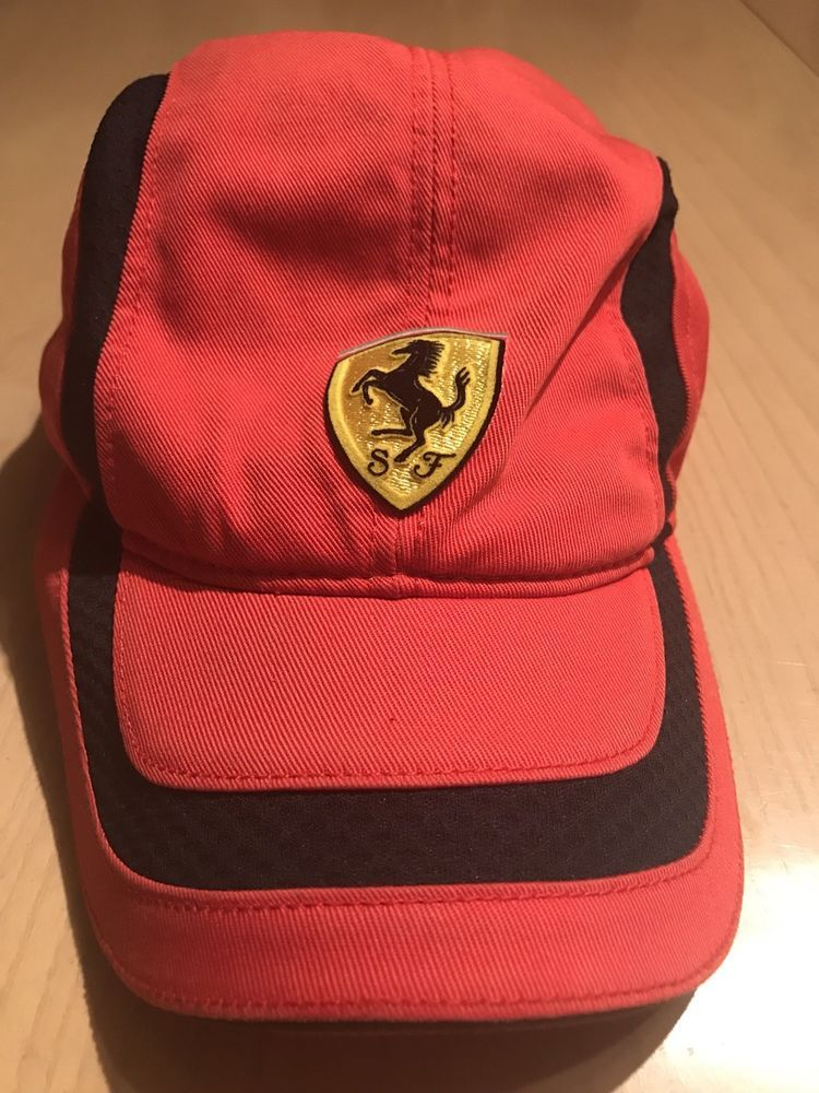 FERRARI Racing Hat Vintage Official Product Red Embroidered  37ef43c4e256