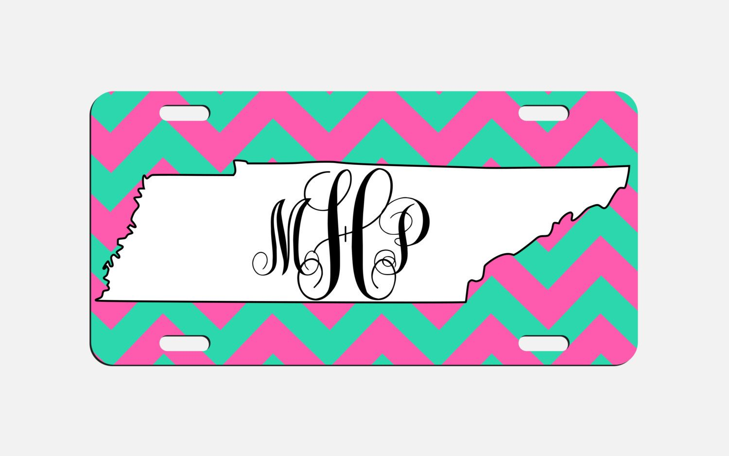 Tennessee Monogram License Plate Chevron TN Custom Car Tags ...