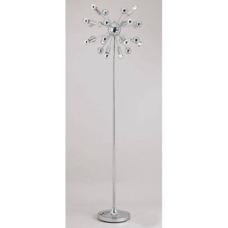 Af Lighting Supernova 12 Light Floor Lamp Chrome At