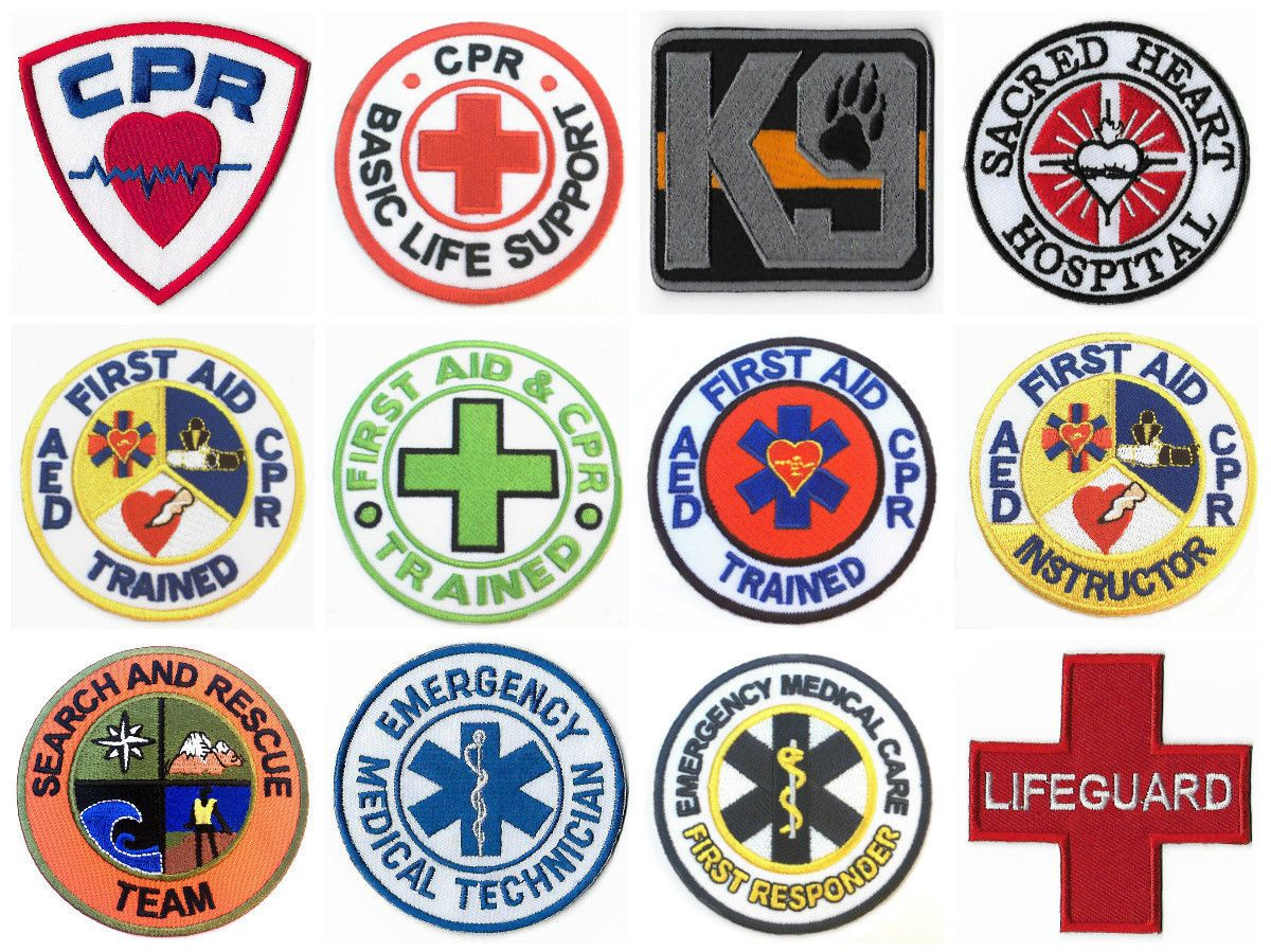 First Aid Patches Cpr Aed Emt Medic Patch Paramedic Red Cross Iron On Badge Ebay Iron On Badges Cross Iron Medic Patch