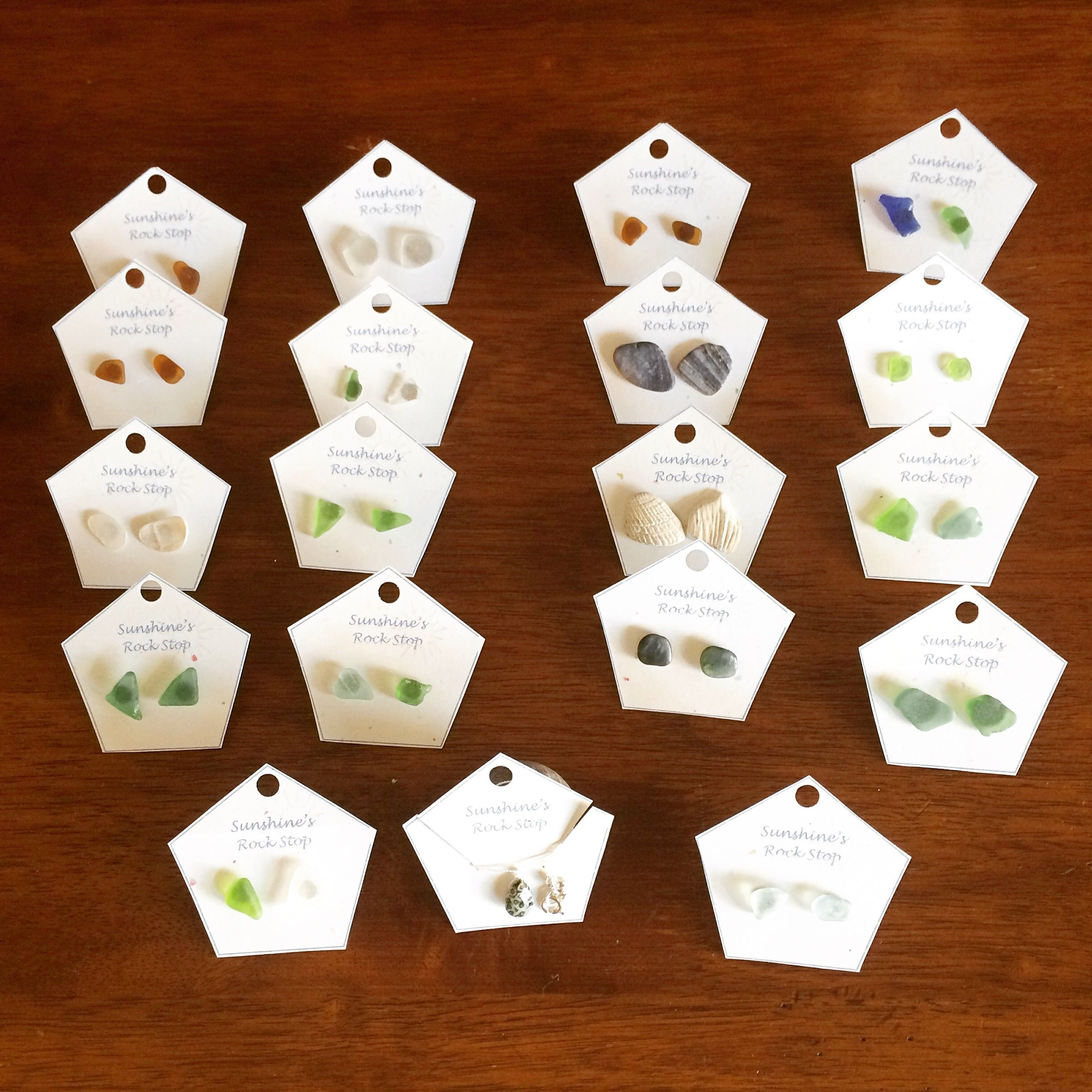 Sea Glass Earrings    20% off everything just type in the discount code SummerTime!     Shop this post and others at http://spreesy.com/sunshinesrockstop