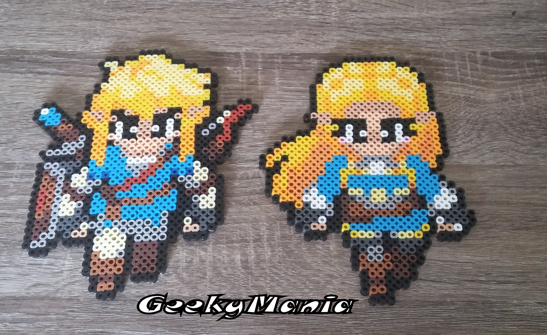 personnages de link et zelda inspirs du dernier opus raliss en perler beads - Link Et Zelda