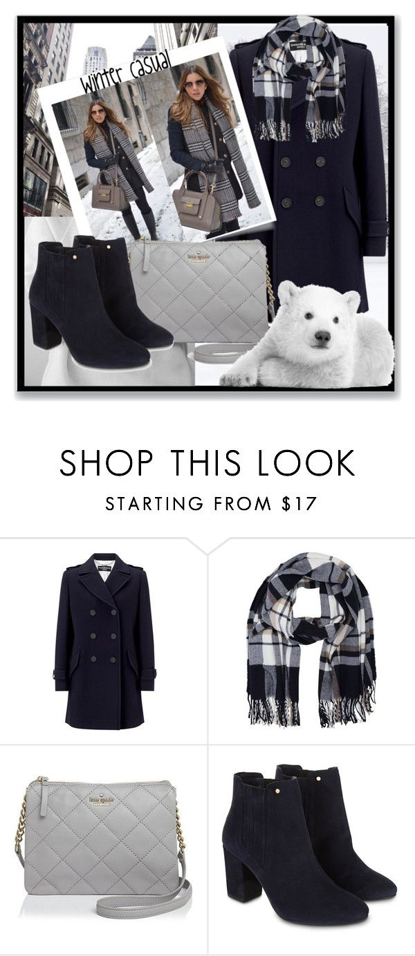 """""""Winter Casual"""" by gracecar3 ❤ liked on Polyvore featuring Magdalena, Four Seasons, M&Co, Kate Spade and Monsoon"""