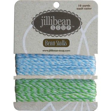 Turquoise/Green Bean Stalks Twine 20yds BS20-4420