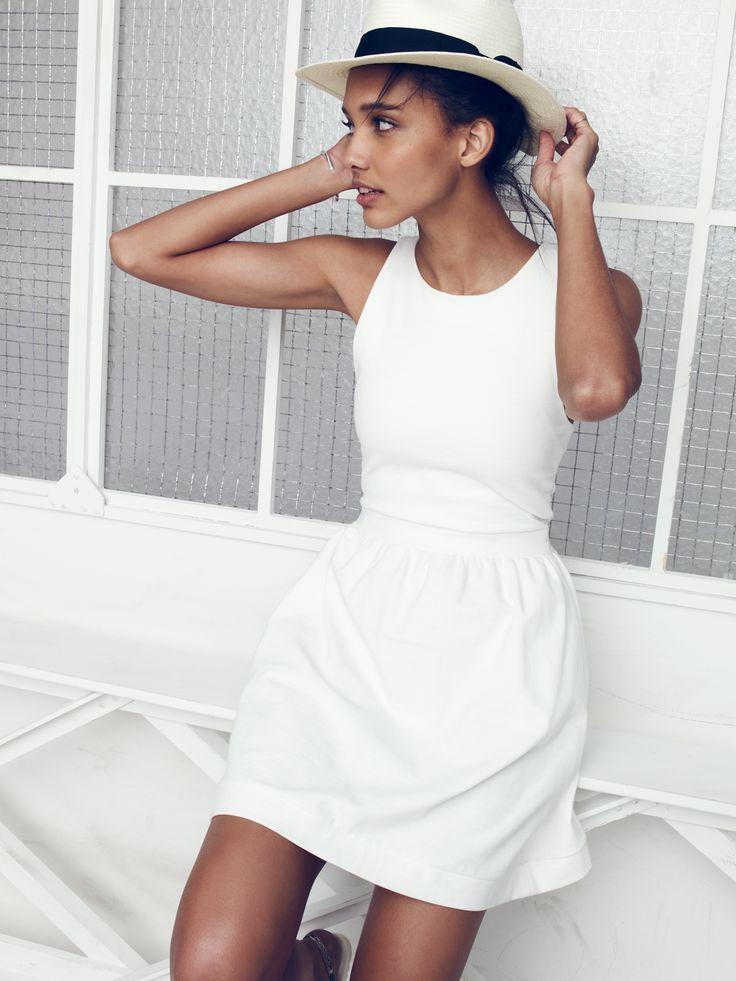 abrittann:  pierside zip-back dress | madewell