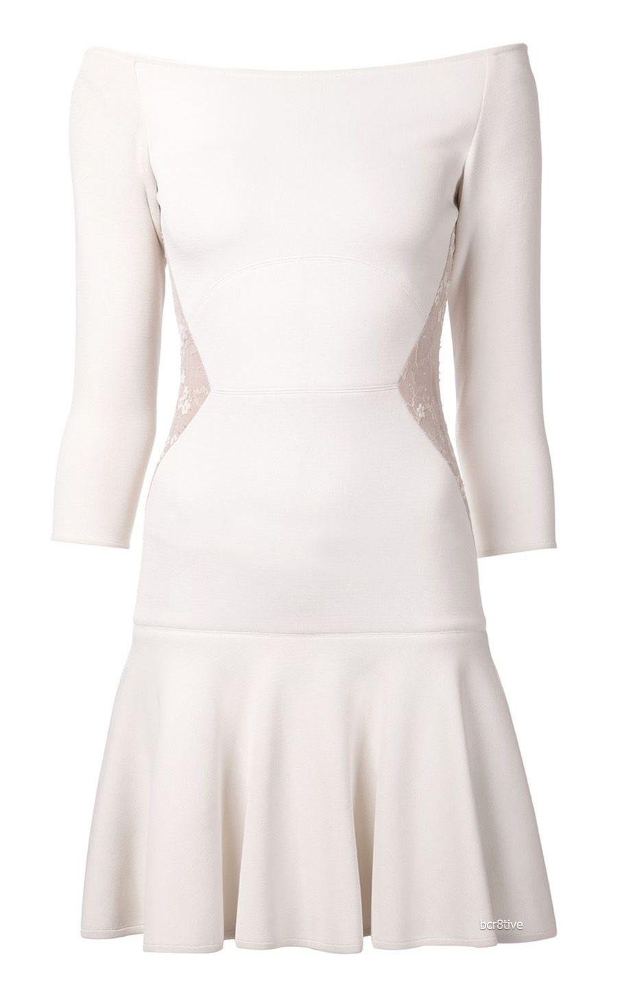 ELIE SAAB contrast side dress