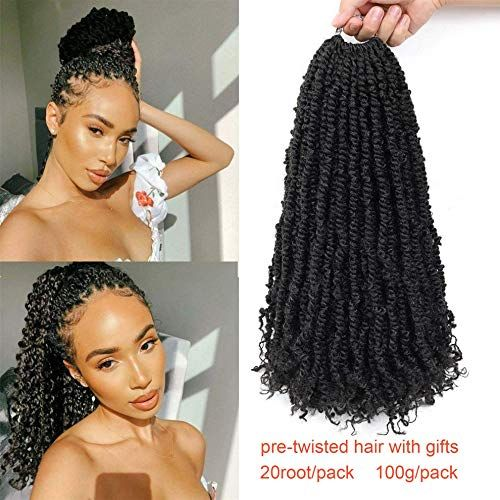 Enjoy exclusive for Ago 7 Packs Pre-Looped Passion Twist Hair For Braids 20 Root/Pack 18inch Long Water Wave Pre-Twisted Passion Twist Locs Crochet Braiding Hair (18inch, 1B) online - Topbrandspremium #passiontwistshairstylelong