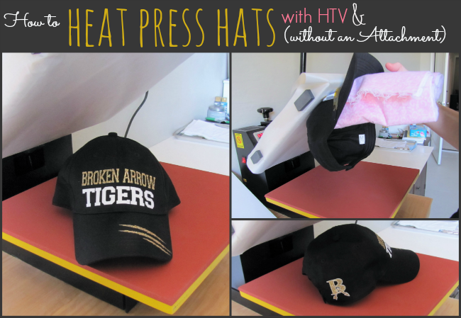How To Heat Press A Hat No Special Attachment Needed Silhouette Htv Tutorial Silhouette School Silhouette School Blog Heat Press